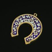Кубачинская серебряная подкова с эмалью ручной работы арт.9700