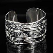 Серебряный кубачинский браслет комбинированный №26