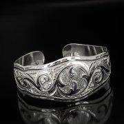 Серебряный кубачинский браслет с чернением арт.537