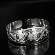 Серебряный кубачинский браслет с чернением арт.559
