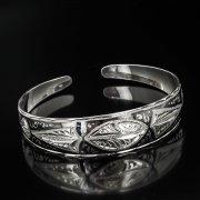 Серебряный кубачинский браслет с чернением арт.600