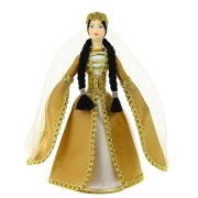 Керамическая кукла в чеченском национальном костюме средняя арт.6645