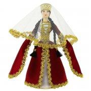Керамическая кукла в кабардинском национальном костюме средняя арт.6646