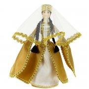 Керамическая кукла в кабардинском национальном костюме средняя арт.6647