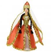 Керамическая кукла в адыгейском национальном костюме средняя арт.6665