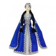 Керамическая кукла в чеченском национальном костюме средняя арт.6703