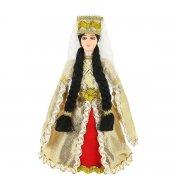 Керамическая кукла в кабардинском национальном костюме (малая) арт.9247
