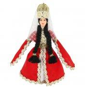 Керамическая кукла в кабардинском национальном костюме (малая) арт.9249