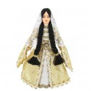 Керамическая кукла в чеченском национальном костюме (малая) арт.9250