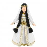Керамическая кукла в чеченском национальном костюме (малая) арт.9251