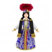 Керамическая кукла в калмыкском национальном костюме (малая) арт.9252