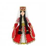 Керамическая кукла в чеченском национальном костюме (малая) арт.9253