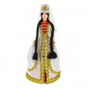 Керамическая кукла в осетинском национальном костюме (большая) арт.9256