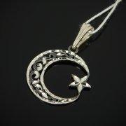 Кубачинский серебряный кулон с гравировкой ручной работы арт.7627