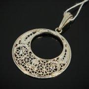 Кубачинский серебряный кулон с филигранью ручной работы арт.7629