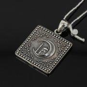 Кубачинский серебряный кулон ручной работы с гравировкой арт.7959