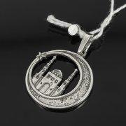 Кубачинский серебряный кулон ручной работы с гравировкой арт.7992