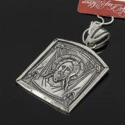 Кубачинский серебряный кулон ручной работы с гравировкой (икона) арт.7998