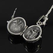 Кубачинский серебряный кулон ручной работы с гравировкой (яйцо) арт.7999