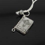 Кубачинский серебряный кулон ручной работы с гравировкой (молитвослов) арт.8008