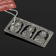 Кубачинская серебряная икона ручной работы с гравировкой арт.8018