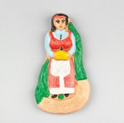"""Магнитик керамический ручной работы """"Казачка с хлебом и солью"""" арт.8993"""