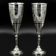 Серебряные фужеры Кубачи ручной работы (2 персоны) арт.8637
