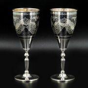 Серебряные фужеры Кубачи ручной работы (2 персоны) арт.8639