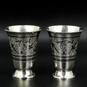 Серебряные стаканы Кубачи ручной работы (2 персоны) арт.8649