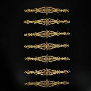 Нагрудники латунные ручной работы на женский костюм мастера Магомеда Идрисова (7 элементов) арт.5000