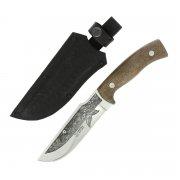 """Кизлярский нож туристический """"Бекас-2"""" (сталь - AUS-8, рукоять - дерево, худож. оформление) арт.5102"""