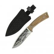 """Кизлярский нож туристический """"Акула-2"""" (сталь - AUS-8, рукоять - дерево) арт.5121"""