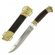 Нож пластунский (сталь - 95Х18, худож. литье, рукоять - венге) арт.5143