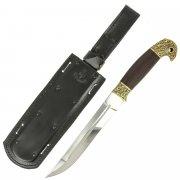 Нож пластунский в чехле (сталь - 95Х18 худож. литье, рукоять - венге) арт.5147