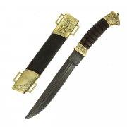 Нож пластунский (сталь - алмазная ХВ5, худож. литье, рукоять - венге) арт.5148