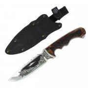 "Кизлярский нож туристический ""Викинг"" с жженой рукоятью арт.5413"
