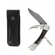 """Складной нож """"Гусар"""" (сталь - дамасская, рукоять - дерево, 3-х предметный) арт.5866"""