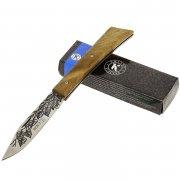 """Кизлярский нож складной """"НСК-2"""" (сталь - AUS-8, рукоять - дерево) арт.6243"""