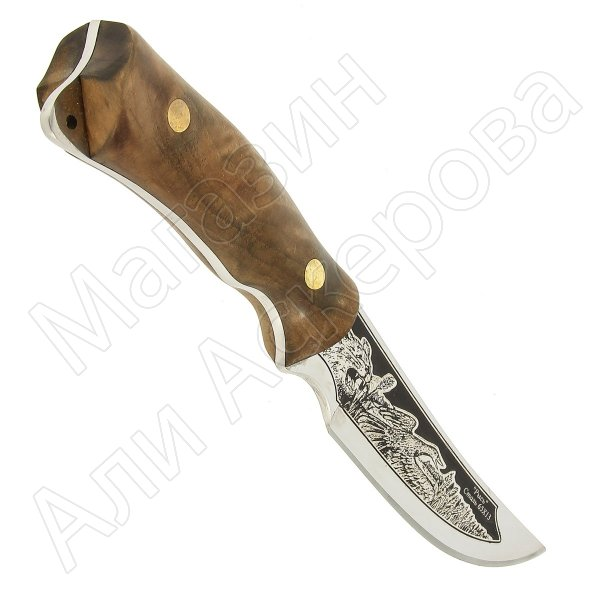 """Кизлярский нож разделочный """"Рысь"""" (сталь - 65Х13, рукоять - дерево) арт.6802"""