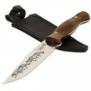 """Кизлярский нож разделочный """"Тайга"""" (сталь - Х50CrMoV15, рукоять - дерево) арт.7970"""