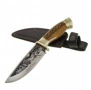 """Кизлярский нож туристический """"Терек"""" (сталь - 65Х13, рукоять - дерево) арт.6318"""