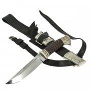 Нож пластунский Витязь (сталь - 95Х18, худож. оформление, рукоять - венге) арт.9103