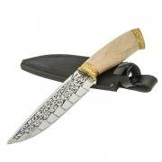 "Кизлярский нож туристический ""Зодиак"" (сталь - 65Х13, рукоять - дерево) арт.7033"