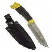 """Кизлярский нож разделочный """"Сафари-1"""" (сталь - дамасская, рукоять - граб) арт.4551"""