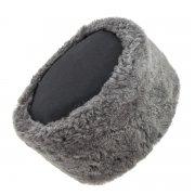 Казачья кубанка серая (овчина, ручная выделка, высота 15 см, размерная утяжка) арт.6941