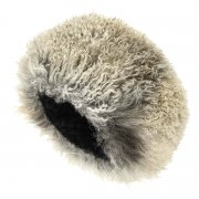 Кавказская папаха чабанская серая из натуральной козлиной шкуры арт.6764