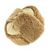 Мужская шапка-ушанка из овчины ручной работы арт.7001