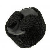 Мужская каракулевая шапка-ушанка ручной работы (сорт - валек) арт.7016