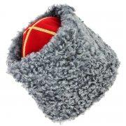Мужская казачья каракулевая папаха ручной работы (сорт - валек) арт.7363