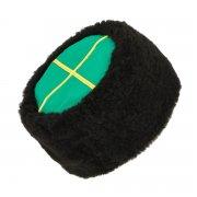 Казачья кубанка черная (овчина, ручная выделка, высота 15 см, размерная утяжка) арт.5675